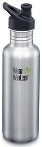 Klean Kanteen Classic Sports Cap Vannflaske  800ml, Brushed Stainless