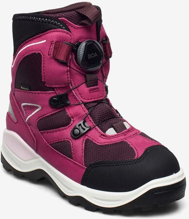 ECCO Snow Mountain Vintersko GORE-TEX, Black/Sangria
