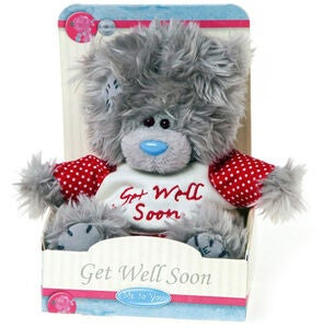 Me To You Kosedyr Teddybjørn Get Well Soon 13 cm