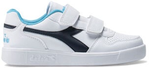 Diadora Playground PS Sneaker, White/Blue Denim