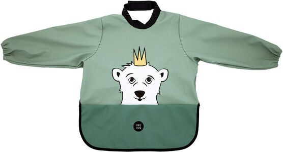 babyLivia Langermet Smekke Polar Bear, Powder Green