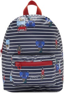 Tom Joule Adventure Ryggsekk, Navy Cream Stripe Animal