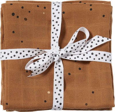 Done By Deer Swaddler Dreamy Dots 120x120 2-pack, Mustard