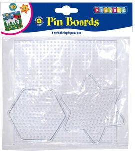 Playbox Perleplate Transparent 3 stk