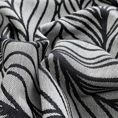 Fidella Baby Wrap Bæresjal Size 6 Dancing Leaves, Black&White