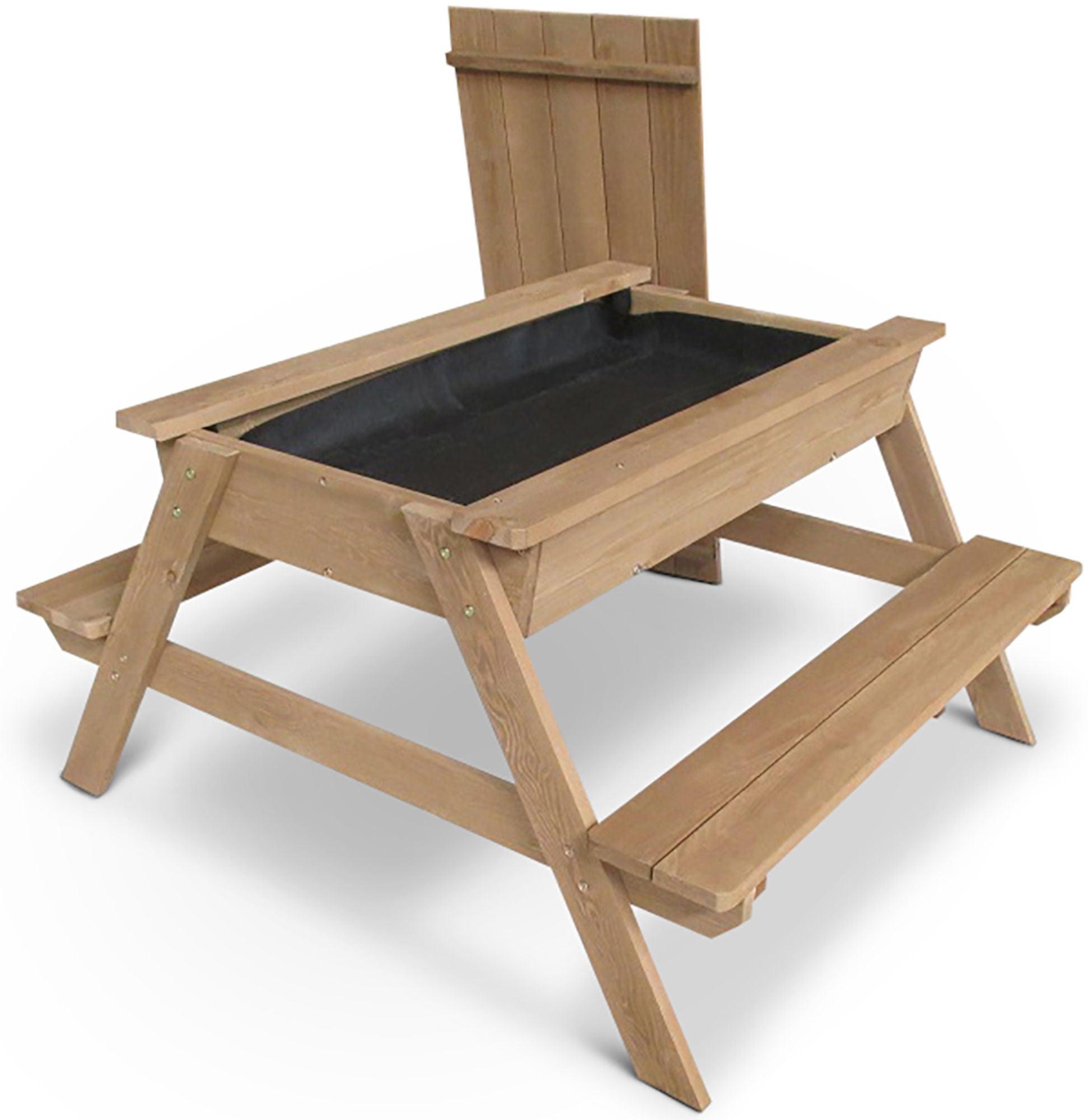 Woodlii Piknikbord med Sandkasse, Brun