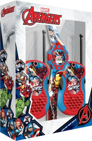Marvel Avengers Walkie-Talkies Og Klokke