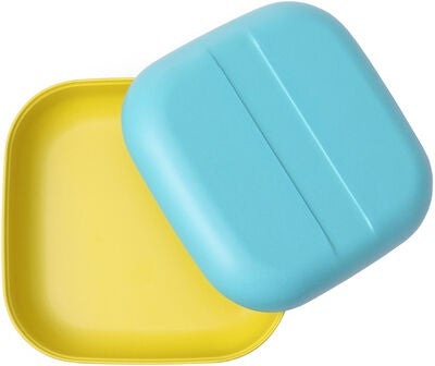 Ekobo Go Duo Color Snack Box, Lagoon/Lemon