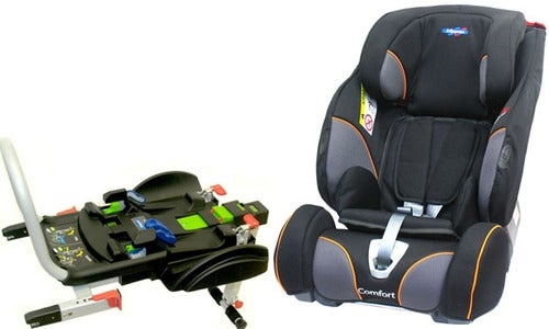 Klippan Triofix Recline Comfort Bilstol, Black Orange + Base ISOfix