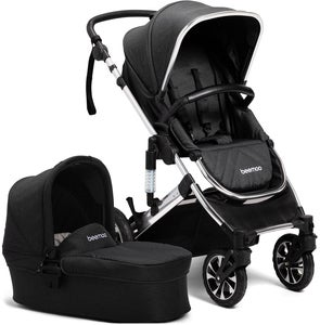 Beemoo Maxi Travel Lux 2 Duovogn, Svart/Silver