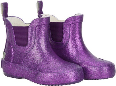 CeLaVi Wellies Short Glitter Gummistøvel, Royal Purple