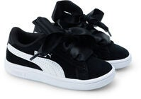 Puma Smash V2 Ribbon AC Sneaker, Black/White