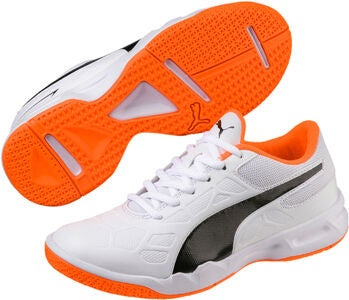 Puma Tenaz Fotballsko JR, White/Orange