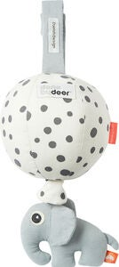 Done By Deer Spilledåse Ballong Happy Dots, White/Black
