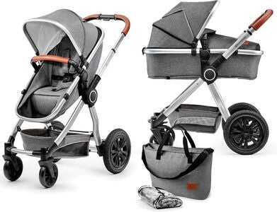 Kinderkraft Multipurpose 2-i-1 Veo Duovogn, Grey
