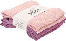 Pippi Organic Musselinteppe 4-pack, Pale Mauve