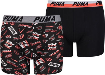 Puma 1948 2-Pack Boxer, Black/Red