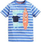 Tom Joule T-Shirt, Blue Stripe Crocodile