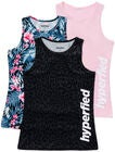 Hyperfied Split Tank Top 3-pack, Black Leo/Fairy Tale/Tropical Flower