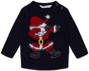 Luca & Lola Baby Genser Santa Moves, Night Sky