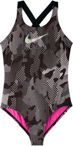 Nike Swim Optic Camo Crossback Badedrakt, Black
