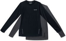 Hyperfied Thunder Long Sleve T-Shirt 2-pack, Black/Grey Melange