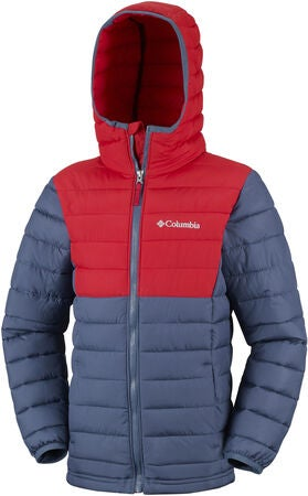 Columbia Powder Lite Jakke, Dark Mountain/Red Spark