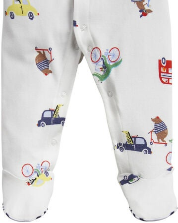 Tom Joule Jumpsuit, White Transport Animals