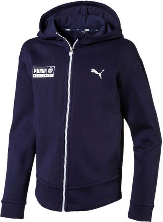 Puma Alpha Graphic Sweat Jakke, Peacoat