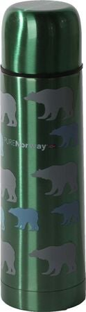 Pure Norway Go Ståltermos Isbjørn 500ml, Metallic