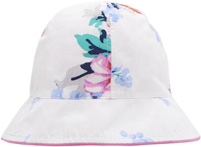 Tom Joule Tosidig Hatt, White Small Floral