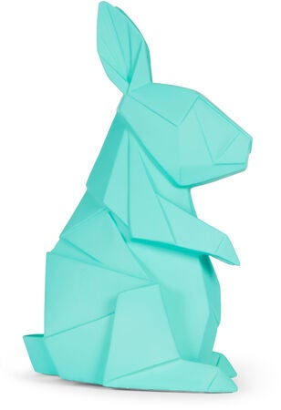 Alice & Fox Bordlampe Origami Kanin, Turkis