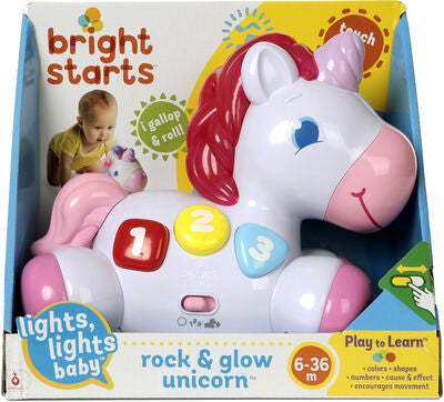 Bright Starts Rock & Glow Unicorn Aktivitetsleke