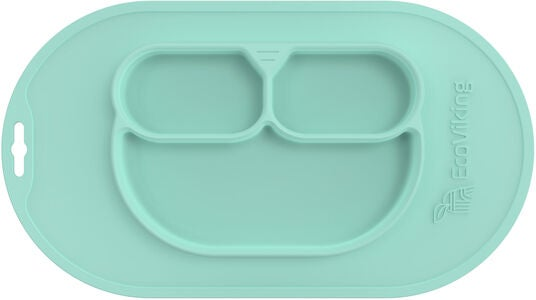 EcoViking Silikontallerken, Mint Green