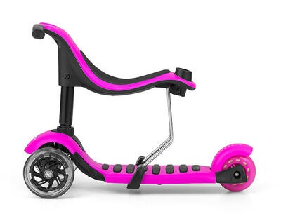 Milly Mally Little Star Gåbil/Scooter 3-in-1, Rosa