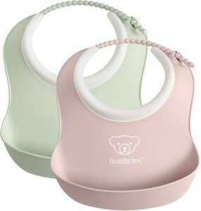 BabyBjörn Smekke Liten 2-pack, Powder Green/Powder Pink