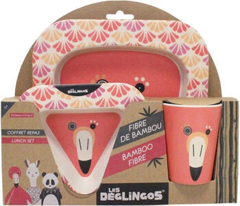 Les Deglingos Flamingos The Flamingo Barneservise Bambus