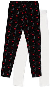 Luca & Lola Venetia Leggings 2-pack, Black/Red