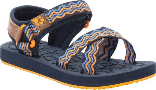 Jack Wolfskin Zulu Sandal, Blue/Orange