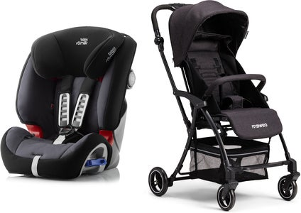 Britax Römer Multi-Tech III, Storm Grey Reisepakke Moweo Turn Light Trille, Black