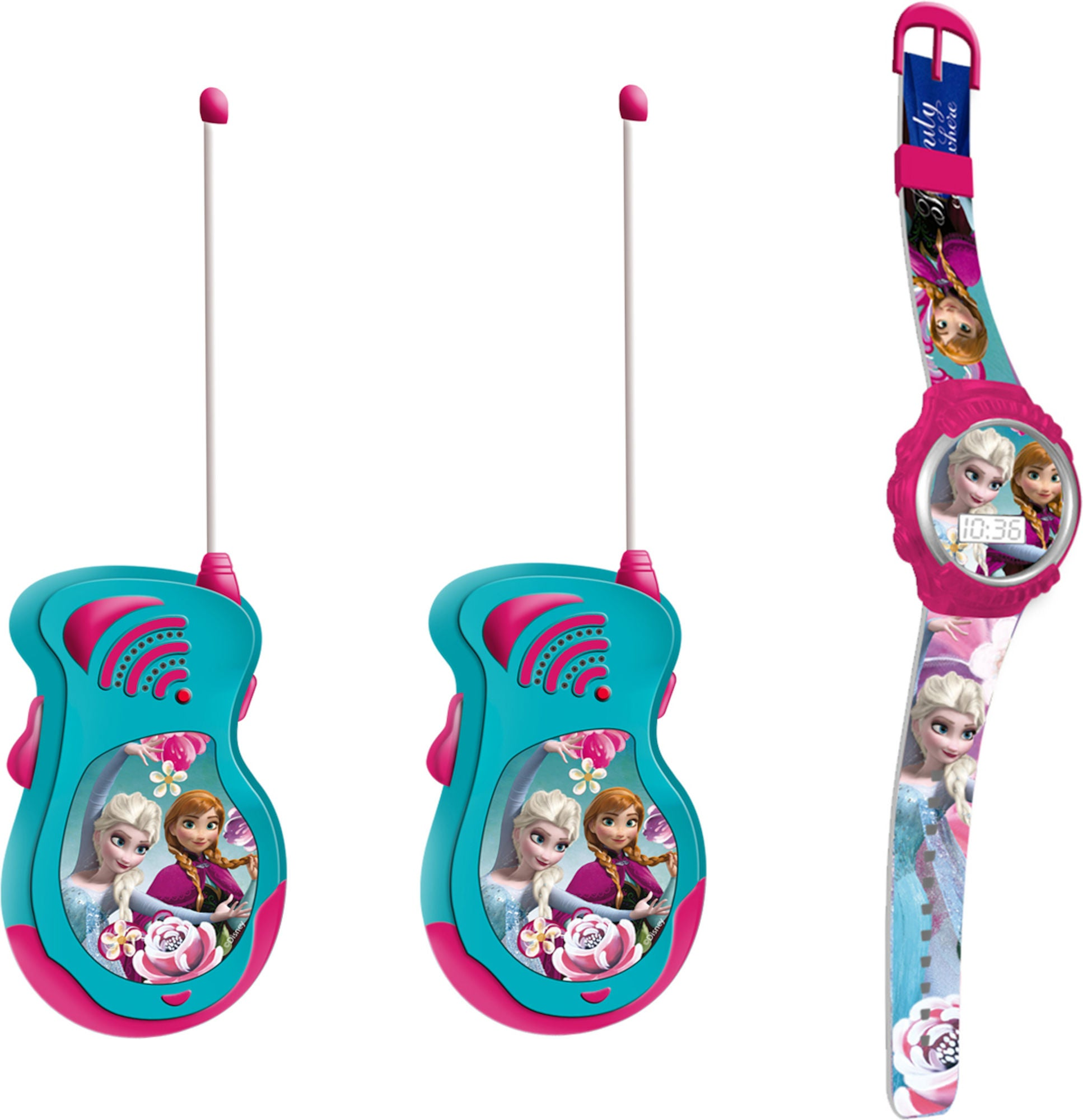 Disney Frozen Walkie Talkies og Klokke