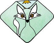 babyLivia Badecape Fox, Powder Green