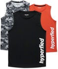 Hyperfied Bounce Tank Top 3-pack, Black/Camo Black/Koi