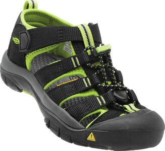 KEEN Newport H2 Little Kids Sandal, Black/Lime Green
