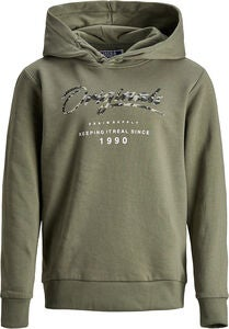 Jack & Jones Camo Hoodie, Dusty Olive