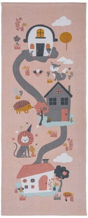 Alice & Fox Gulvteppe Houses, Pink