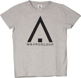 Wearcolour Patch T-Shirt, Grey Melange