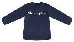 Champion Kids Langermet Crewneck T-Shirt, Black Iris