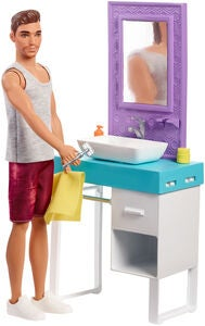 Barbie Dukke Ken Shaving Bathroom