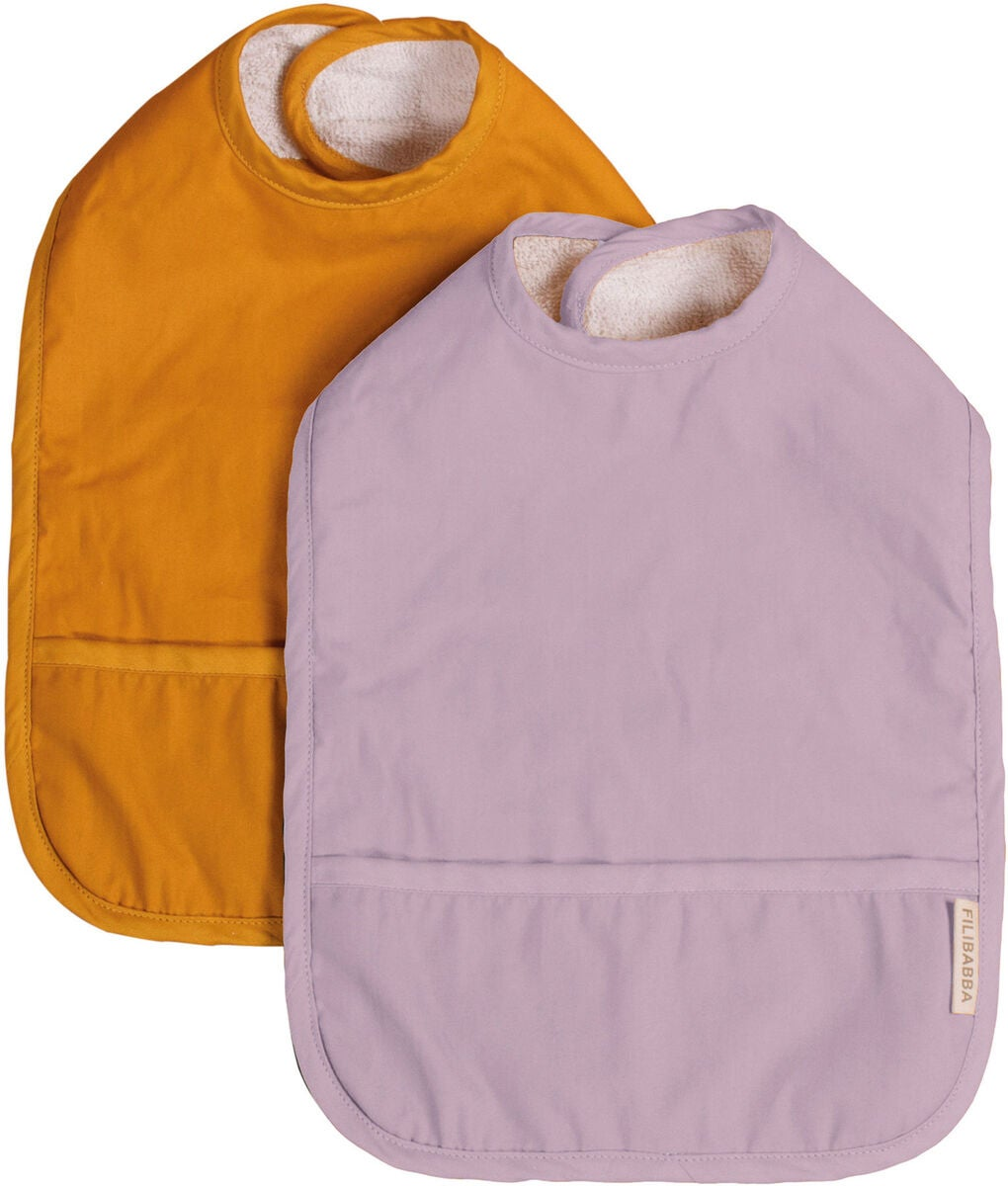 FILIBABBA Smekke med Velcro 2-Pack, Golden Mustard/Light Lavender